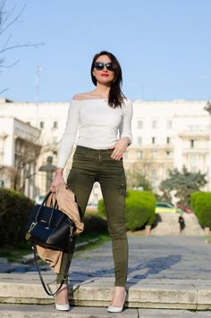 If you are fans of this trend, consider khaki a neutral color. http://www.shared.style/styles/dressed-up-daytime/military-spring