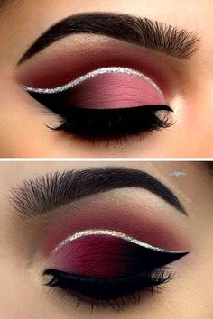 A glam look for an evening event. Just add silver liner.  #makeup