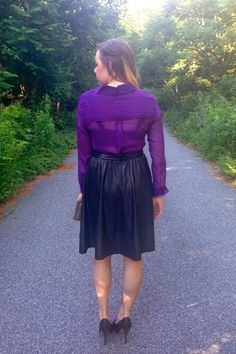 Cupcakes & Couture: What I Wore: Silk & Leather