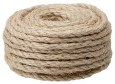 Crown Bolt 63544 1/4-Inch by 50-Feet Sisal Rope, Natural by Crown Bolt. $8.97. From the Manufacturer                Sisal rope hard natural fiber has many characteristics of manila but offers 80-Percent of its strength. Sisal is more economical than manila. Sisal has good knot-holding ability. Chemicals will cause the rope to deteriorate. Provides great knot holding ability and is sunlight resistance.                                    Product Description     ...