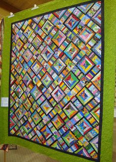 X Marks the Block -- Great scrappy quilt!
