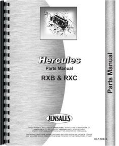 Hercules Engines RXC Engine Parts Manual