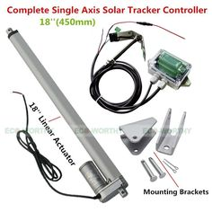 (107.63$)  Buy here - http://aittx.worlditems.win/all/product.php?id=1870139712 - Complete Kit sunlight track Single Axis solar tracker-Linear actuator electronic solar tracking system