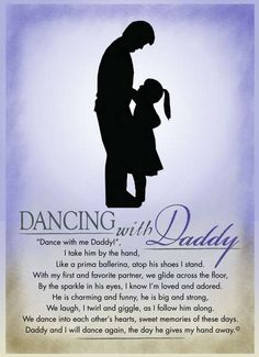 "Dancing with Daddy Plaque - The Grandparent Gift Co. - ""Dancing with my Daddy""  I love to dance Just my Daddy and me Upon his feet I squeal with glee  I love to dance Around and around In circles we go Close to the ground  I love to dance The music is so great With my Daddy holding my hands I know I am safe  I love to dance Just my Daddy and me.   Author: Lisa Lane"