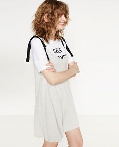 f3606860d5c Image 5 of DRESS WITH LACE-UP STRAPS from Zara