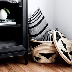 pillow and basket