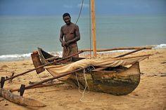 Pirogue a balancier, Nosy Be, Madagascar.dugout in Nosy Be island, north of Madagascar