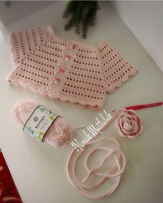 Crochet Vest Pattern Knit Crochet Crochet Patterns Crochet Baby Booties Baby Girl Crochet Crochet For Kids Baby Knitting Hand Embroidery Baby DressIG ~ ~ crochet yoke for Irish lace, crochet, crochet p This post was discovered by Ел New model, new Crochet Bolero, Crochet Vest Pattern, Baby Knitting Patterns, Crochet Stitches, Crochet Patterns, Baby Girl Crochet, Crochet Baby Clothes, Crochet For Kids, Free Crochet