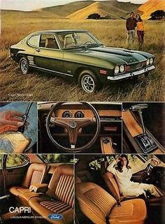 1972 Mercury Capri 2600 (made in Germany) Classic Cars British, British Sports Cars, Ford Classic Cars, British Car, Ford Capri, Ford Motor Company, Ford Motorsport, Mercury Capri, Ford Sierra