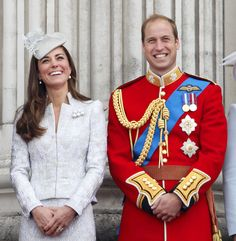 The Duke and Duchess of Cambridge couldn't stop smiling as they stood on the Buckingham Palace balcony during Trooping the Colour in June.