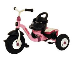 Kettler Happy Air Navigator Stella Convertible Tricycle w/ Push Handle T8839-1020