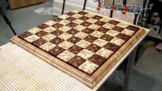 "3"" square chaotic pattern chessboard"
