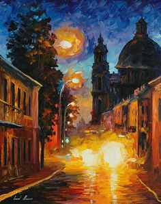 A Time When the City Sleeps - By Leonid Afremov