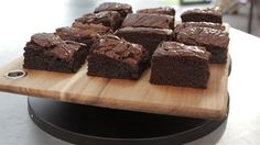 Note to self: Chocolote miso brownies are too rich for me, but not Matt these will be a great treat for him