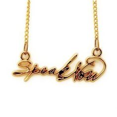 Speak Now Necklace. Taylor Swift. Want This to remind me to always SPEAK NOW!!!