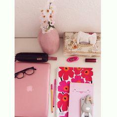 Pink Desktop #Office