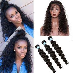 360 Lace Frontal With Bundle 7A Brazilian Virgin Hair With Frontal Closures Pre Plucked 360 Lace Frontal Closure With Bundles