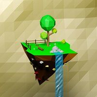 Cartoon low poly floating island Model available on Turbo Squid, the world's leading provider of digital models for visualization, films, television, and games. Floating Island, Low Poly Models, Game Icon, 3d Models, Modern Business Cards, Scenery, Objects, Animation, Texture