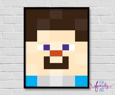 Your place to buy and sell all things handmade Minecraft Posters, Minecraft Wall, Happy New Week, Poster Boys, Lego For Kids, Shops, Print Fonts, Iphone, My Etsy Shop