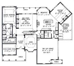 Houseplans.com Main Floor Plan Plan #54-113