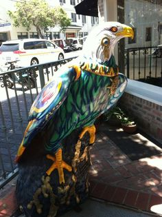 They had great painted eagles on catalina island.