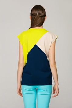 Colour block top