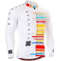 Fixgear cycling biking jersey printed white shirts for men 6ad9fee5a