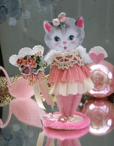 Pink Valentine Kitty Keepsake