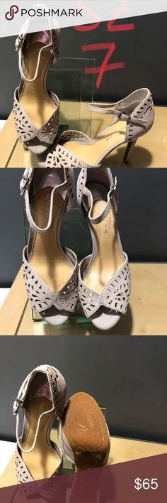 Gianni Bini Heel Size 7 cut out leather design!!! These are almost a grey suede size 7 and are amazing worn just as a display you are sure to love these the color is very versatile. Follow me I love to bundle An combine shipping! Gianni Bini Shoes Heels