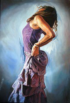 'Untitled' - Rainer Augur {contemporary artist figurative female woman painting}