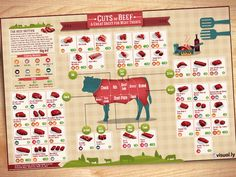Cuts of Beef infographic by Ilias Sounas