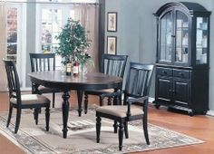 5pc Vintage Style Black Finish Oval Dining Table & 4 Chairs Set by Poundex, http://www.amazon.com/dp/B000S9THGG/ref=cm_sw_r_pi_dp_hHzKrb04T8JFW