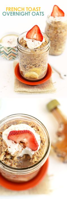 Have your french toast and oatmeal too! Make French Toast Overnight Oats for an easy, make-ahead breakfast that's packed with maple and cinnamon flavor!