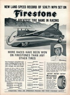 1965 Firestone Tires Advertisement Road & Track February 1965 | Flickr - Photo Sharing!