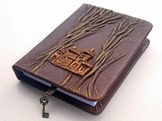 Leather journal leather notebook travel journal by AVworkshop - $22
