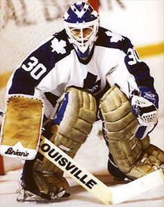 Allan Bester Hockey Shot, Ice Hockey Teams, Hockey Goalie, Hockey Players, Nhl, Toronto Maple Leafs, Goalie Pads, Maple Leafs Hockey, Hockey Boards