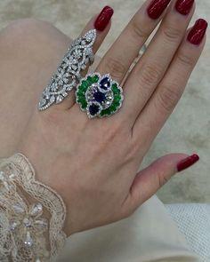 For color stone lover...a good combination #primusjewelry #charupetch #diamonds #bride #weddingjewelrysets #diamondjewellery…