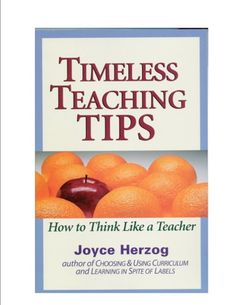 Teaching Teachers, Enhancing Learning Timeless Teaching Tips is the culmination of Joyce Herzog's decades of learning through teaching. It shows you how to infuse your teaching with fun and personality. It is