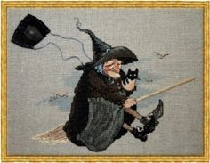 Nimue Cross Stitch Chart # 109 - Babayaga - Witch #Nimue