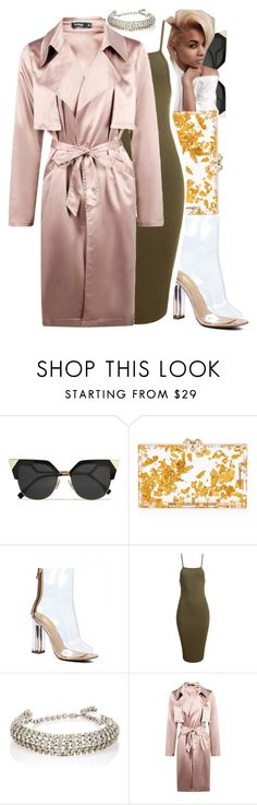 """""""I Fell In Love With You,Because You Love Me When I Couldn't Love Myself"""" by denise-loveable-bray ❤ liked on Polyvore featuring Fendi, Charlotte Olympia, Sans Souci and Boohoo"""