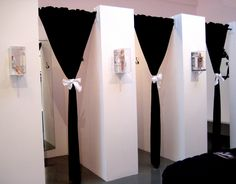 Not the bows but the idea of a half wall with a curtain