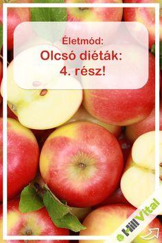 """Almadiéta: Az alma nagyon egészséges. Nem véletlenül szól úgy a mondás, hogy """"mindennap egy alma az orvost távol tartja"""".   7-14 nap alatt akár 5 kilót is fogyhatunk a segítségével. Már csak azért is érdemes kipróbálni, mivel az alma az agyra is nagyon jó hatással van, és a vesét, valamint a májat is szabályozza. Food And Drink, Health Fitness, Healthy Recipes, Apple, Meals, Fruit, Drinks, How To Make, Diets"""