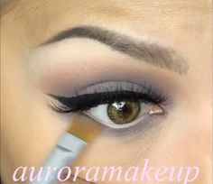 Medium brown and a grey-purple.  Simple & Pretty combo. Check out auroramakeup for her tutorials.