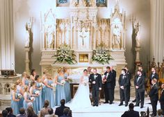 Memphis, TN cathedral wedding altar floral design by Holliday Flowers & Events