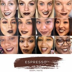 ESPRESSO - Love this shade? You can order it here: www.lastinglip.ca If it's currently out of stock, it wont be listed on the website so feel free to message me via my Facebook Page at www.facebook.com/lastinglip and I'll get you one. #lipsense #espresso #lastinglip #senegence
