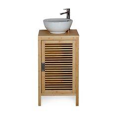 Nature - Meubles sous-vasques-Meubles de salle de bains Meuble de salle de bains en bambou 50cm