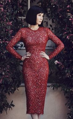 Lucy Liu in a Micheal Kors dress | photo Emre Guven | More Magazine Sept 2012