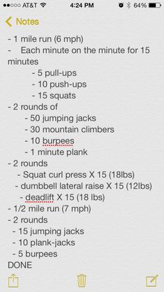 Crossfit workout I did last week! I am not completely sure what the second bulletin means, but I can make something out of it! (: A HUGE thank you to whoever shared this! Fitness Tips, Fitness Motivation, Health Fitness, Lifting Motivation, Rogue Fitness, Crossfit Games, Gym Workouts, At Home Workouts, Emom Workout