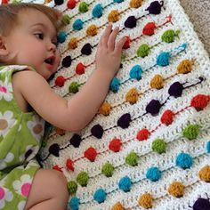 Crazy for Polka Dots Blanket