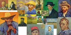 Sale 10 - 30% OFF Use promo code RYCUBL Good on all Prints See details...,bridburg,vibrance of van gogh mural iii, vincent van gogh,self portraits,orange,green, blue, digital art, fine art, arrangement, arranged, white, floral, perspective, layers, hat, hats, mailman, old man, young man, woman sitting, paul gauguin, easel, painter, famous paintings, impressionism, art, post impressionism, blue shirt, beret, agent, field, straw hat, artist, artists, collage, derivative art, hodgepodge…